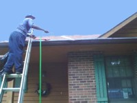 gutter clean out